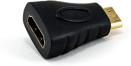 CSL - Adaptador HDMI a miniHDMI con Ethernet - HDMI Hembra a HDMI Mini C Macho - Full HD 1080p 2160p - Contactos certificados - Contactos chapados en Oro 24K