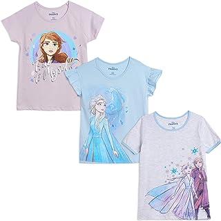 Disney Frozen II Big Girls Short-Sleeve Fashion 3 Pack T-Shirts