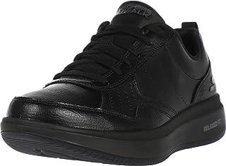 حذاء رياضي من تشكيلة جو ووك ستيدي مصنوع من الجلد بالكامل مع رباط بتصميم مريح للمشي للرجال من سكيتشرز