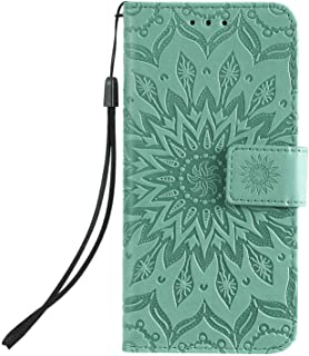 PU Leather Flip Cover Compatible with Samsung Galaxy Note 10 plus, Elegant green Wallet Case for Samsung Galaxy Note 10 plus