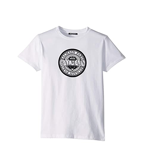 Balmain Kids Short Sleeve Coin Logo Tee (Big Kids)
