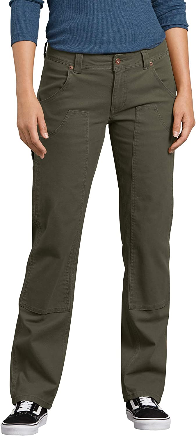 Dickies Women's Stretch Duck Carpenter Classic Rapid rise Front Pant Double