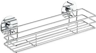 WENKO 5635100 Turbo-Loc Etagère à Epices - Fixer sans Percer, Métal Chromé, 30 x 9 x 8 cm, Argent Brillant