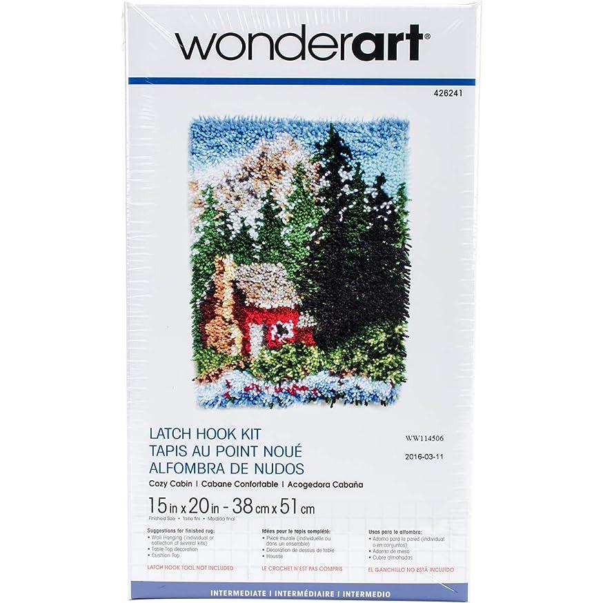 Wonderart Cozy Cabin Latch Hook Kit, 15