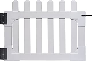 """Zippity Outdoor Products ZP19004 Newport Vinyl Picket Unassembled Gate, 31""""H x 41""""W, White (Pack of 3)"""
