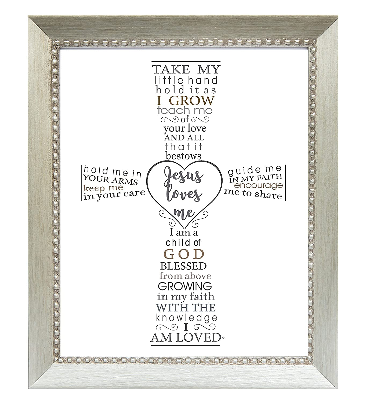 The 5 popular Grandparent Gift Jesus Loves Me Jacksonville Mall Baptism Frame Baby's for or