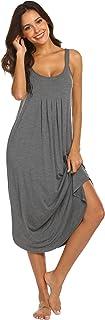 Women's Sleeveless Long Nightgown Summer Full Slip Sleep...