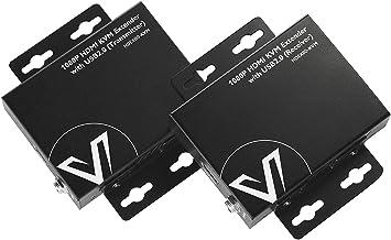 AV Access HDMI USB KVM Extender, 1080P 60Hz Over Cat5e/6 up to 80m/260ft, 2-Port USB2.0 for Computer, No Signal Loss or La...