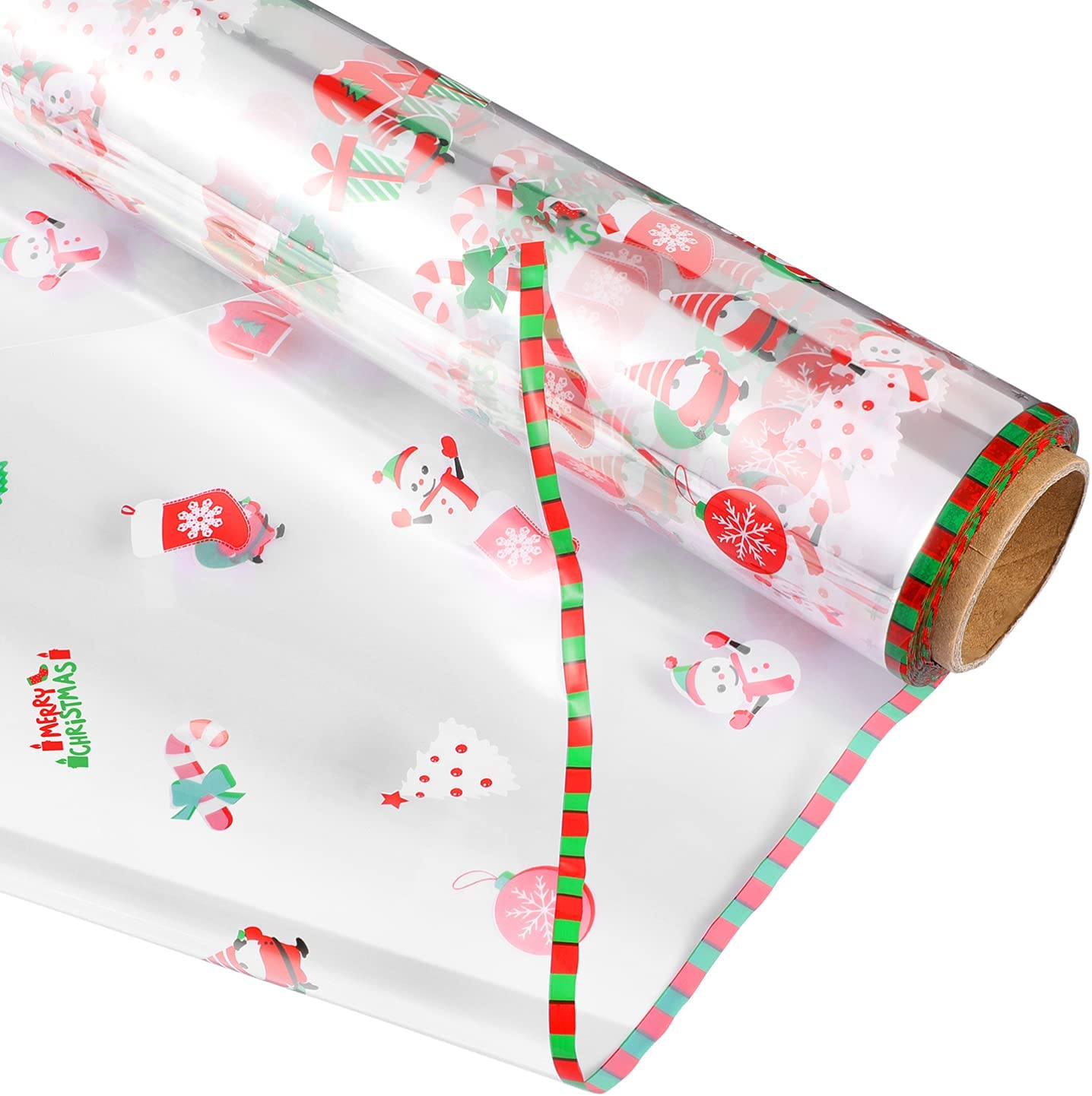 PRETYZOOM Our shop most popular Christmas Max 87% OFF Cellophane Wrap Roll Ba