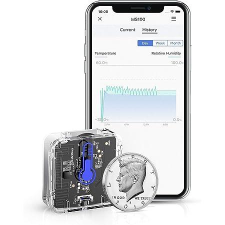 meross Termómetro Higrómetro Sensor de Temperatura y Humedad Inteligente WiFi Inalámbrico. Compatible Aplicación y IFTTT MS100.(Se Necesita hub).