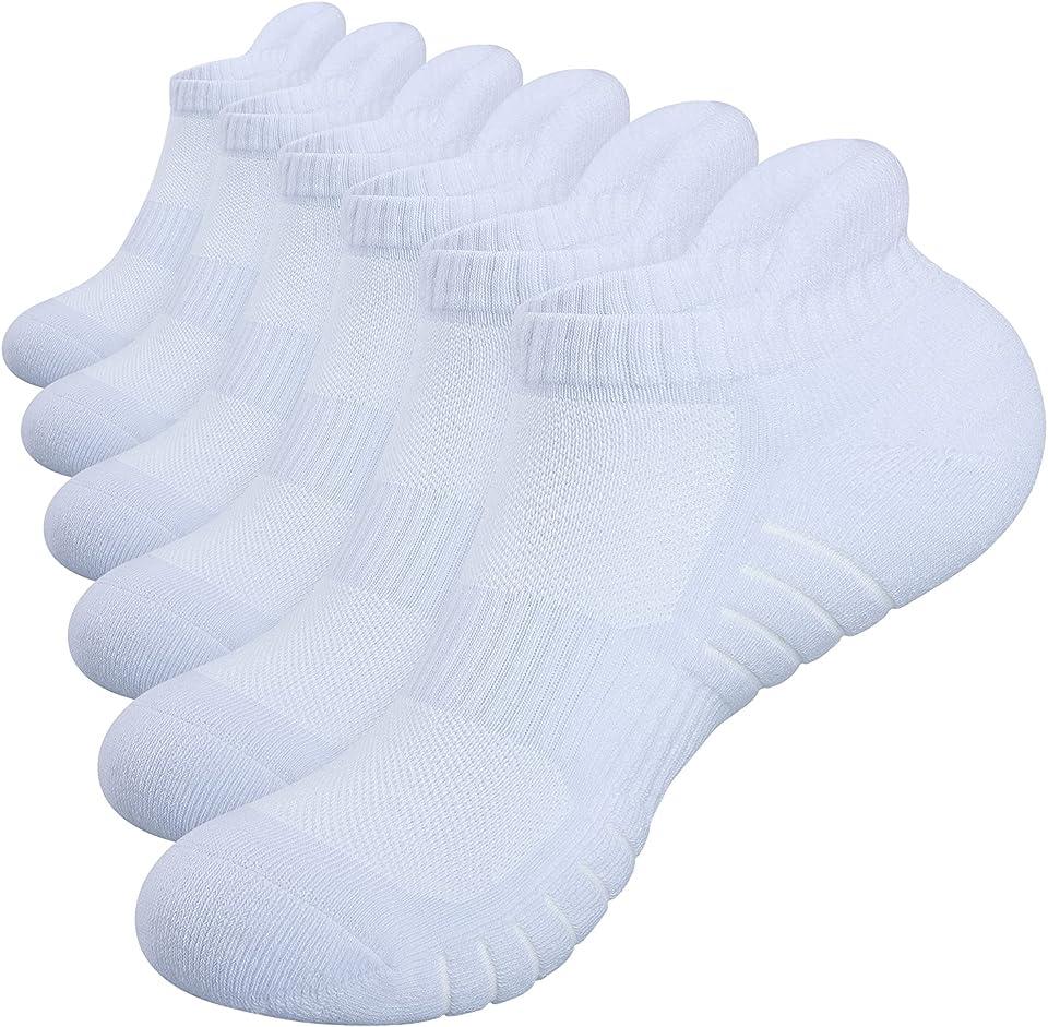 Running Socks, 6 Pairs Trainer Socks, Breathable Sports Socks for Men, Anti Blister Womens Socks Ladies Ankle Socks Walking Socks Work Socks