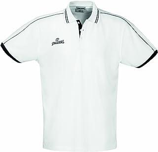 Spalding baloncesto Polo Shirt manga larga polo para hombre Camisa negro gris