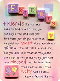 """Miniature Easel Print with Magnet: Friends like You are Hard to Find, 3.6"""" x 4.9"""""""