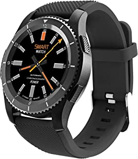 JDBT - Reloj deportivo unisex de pantalla táctil con podómetro, monitor de actividad, presión arterial, frecuencia cardíaca y compatible con tarjeta SIM