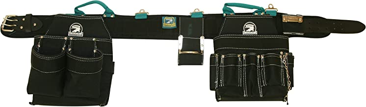 Gatorback Professional Electrician's Tool Belt Combo w/ Padded Comfort Belt (Medium 31-34 Inch Waist). Ventilated Comfort Belt with Heavy Duty Pouches for Electricians, Carpenters, Hvac, Drywaller.