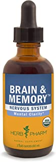 Herb Pharm Brain and Memory Herbal Liquid Formula with Ginkgo for Memory and Concentration- 2 Ounce