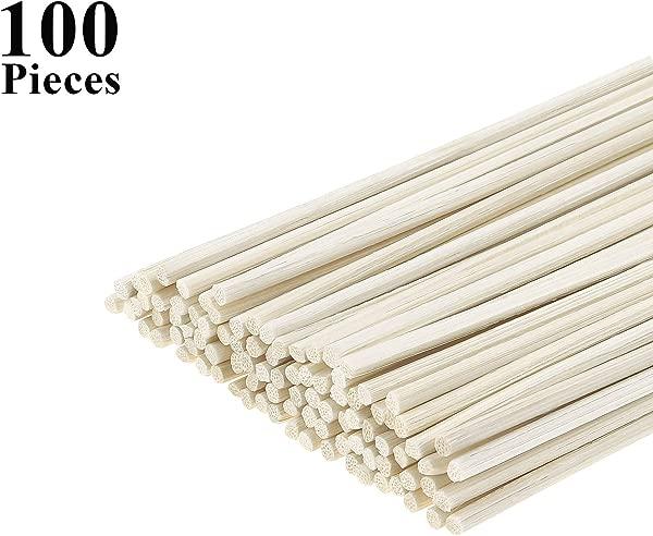 Favordrory Oil Diffuser Sticks Wood Rattan Reed Sticks Reed Diffuser Sticks Essential Oil Aroma Diffuser Sticks Natural Rattan Reed Diffuser Replacement Sticks 100 PCS