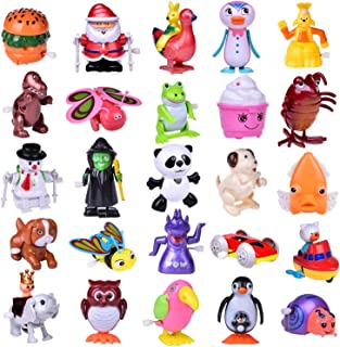 FUN LITTLE TOYS Wind Up Toys 25 PCs Assorted Animal Toys for Kid Party Favors, Pinata..