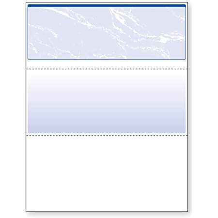 DocuGard Standard Blue Marble Top Check, 24 lb, 8.5 x 11 Inches, 2500 Sheets (04501C)