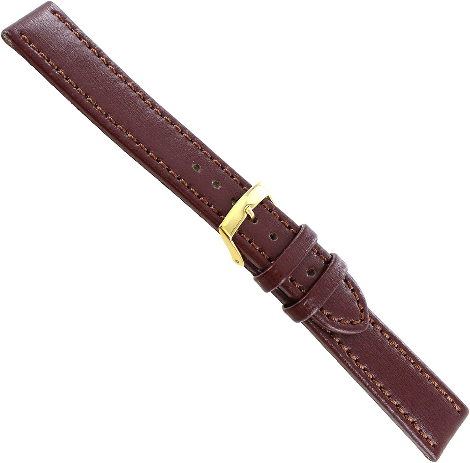 18mm Morellato Brown Genuine Leather Stitched B Thick Mens 2021new shipping free shipping New color Watch