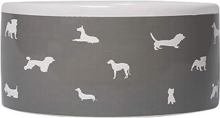 MOG & BONE Ceramic Dog Bowl Mocca Dog Print 500ml