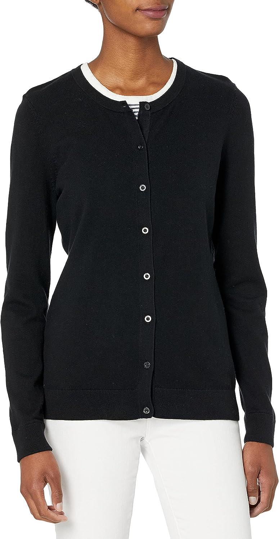 Cutter & Buck Women's Soft Cotton Blend Lakemont Long Sleeve Cardigan Sweater