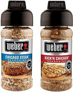 Weber Seasoning Variety 2 Flavor Pack 2.5 Ounce (Chicago Steak and Kick'n Chicken)