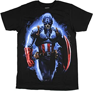 Marvel Men's Captain America Serious Soldier Character T-Shirt