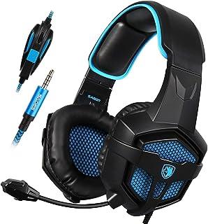 comprar comparacion SADES SA-807 Playstation 4 Pro Xbox uno S Auriculares estéreo Over-Ear Gaming Auriculares con micrófono para PC PS4 iPad M...