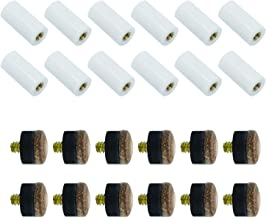 Y-luck Cue Tips Pool Billiard Cues Tips Replacement with Pool Cue Stick Ferrules for Snooker, 12 Sets Cue Tips (13mm)