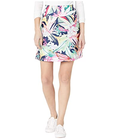Tribal Printed Stretch Knit Pull-On Skort w/ Pockets (Pistachio) Women