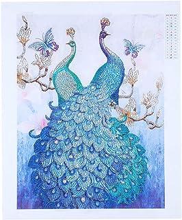 اللوحة الماسية DIY 5D اللوحة الماسية مزدوجة الطاووس شكل خاص لوحات الماس مجموعات الفنون الحرفية لتزيين الحائط الغرفة
