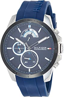 Tommy Hilfiger Men's Blue Dial Plastic Band Watch - 1791350
