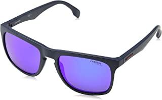 449e1f107f Carrera Plastic Rectangular Shallow Sunglasses 56 0RCT Matte Blue (Z0 ml  blue lens)