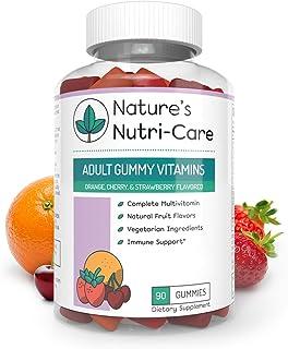 Nature's Nutri-Care Adult Gummy Vitamins - 90 Gummies - Vegetarian Gummy Multivitamin - Essential Vitamins, Antioxidants, ...
