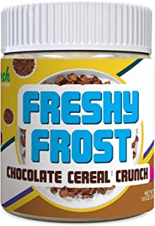 Freshy Frost Chocolate Cereal Crunch Flavored Nut Butter Frosting   All Natural, Gluten-Free   10oz. (Chocolate Cereal Crunch)