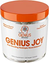 Genius Joy - Serotonin Mood Booster for Anxiety Relief, Wellness & Brain Support, Nootropic Dopamine Stack w/Sam-e, Panax ...