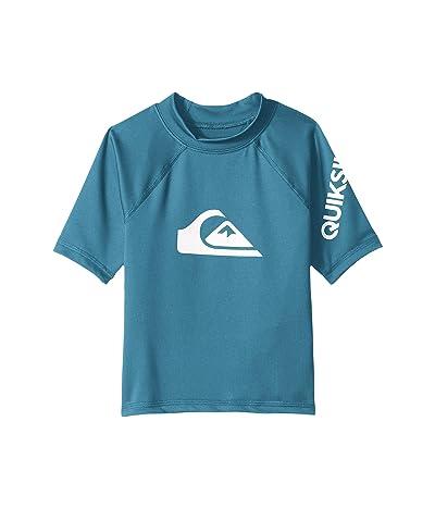 Quiksilver Kids All Time Short Sleeve Rashguard (Big Kids) (Southern Ocean) Boy