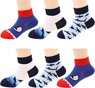 Ankle Socks- Adventure Dinosaurs Patterned Socks- Low Cut No Show Athletic Sport Socks for Toddler Little Big Kids