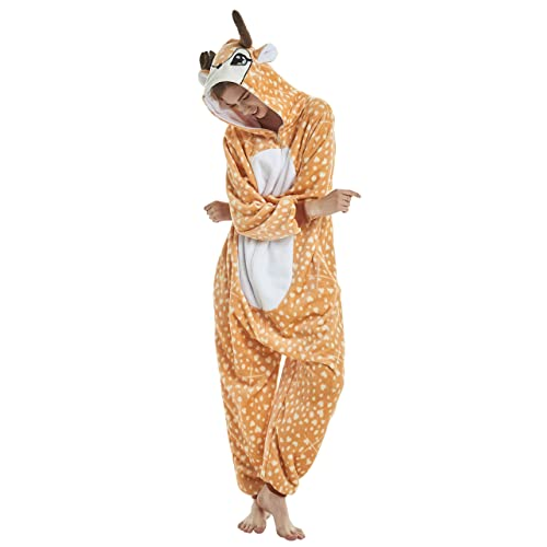 a3b3bba62f3d FunnyCos Adult Onesie Animal Pajamas Unisex Halloween Cosplay Costume Fancy  Dress Loungewear