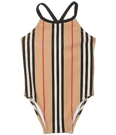 Burberry Kids Crina Stripe Swimsuit (Infant/Toddler) (Archive Beige IP Stripe) Girl