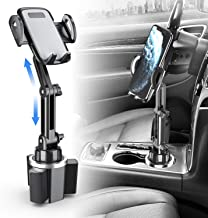 Car Cup Holder Phone Mount, Aufixy Upgrated Adjustable Automobile Universal Cup Phone Holder Smart Cell Phone Cradle Car Mount for iPhone 11 Pro/XR/XS Max/X/8/7 Plus/Samsung S10+/Note 9/S8 Plus etc