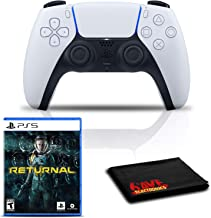 $145 » PlayStation 5 DualSense Wireless Controller Bundle with Returnal PS5 Game and Cleaning Cloth