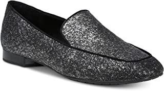 Donald Pliner Women's Honey Almond Toe Glitter Suede Flats Glitter Size 8.5