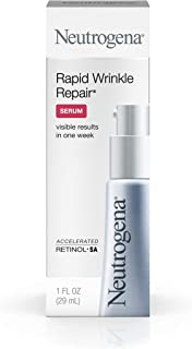 Neutrogena Rapid Wrinkle Repair Hyaluronic Acid Face Serum & Retinol Serum with Glycerin - Anti Wrinkle Serum for Face with Hyaluronic Acid & Retinol for Wrinkles & Dark Circles, 1 fl. oz