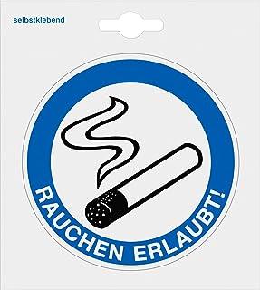 Metafranc Klebesymbol Rauchen erlaubt - Durchmesser 97 mm / Beschilderung / Infoschild / Gebotsschild / Gebotskennzeichnung / Raucher-Bereich / 512190