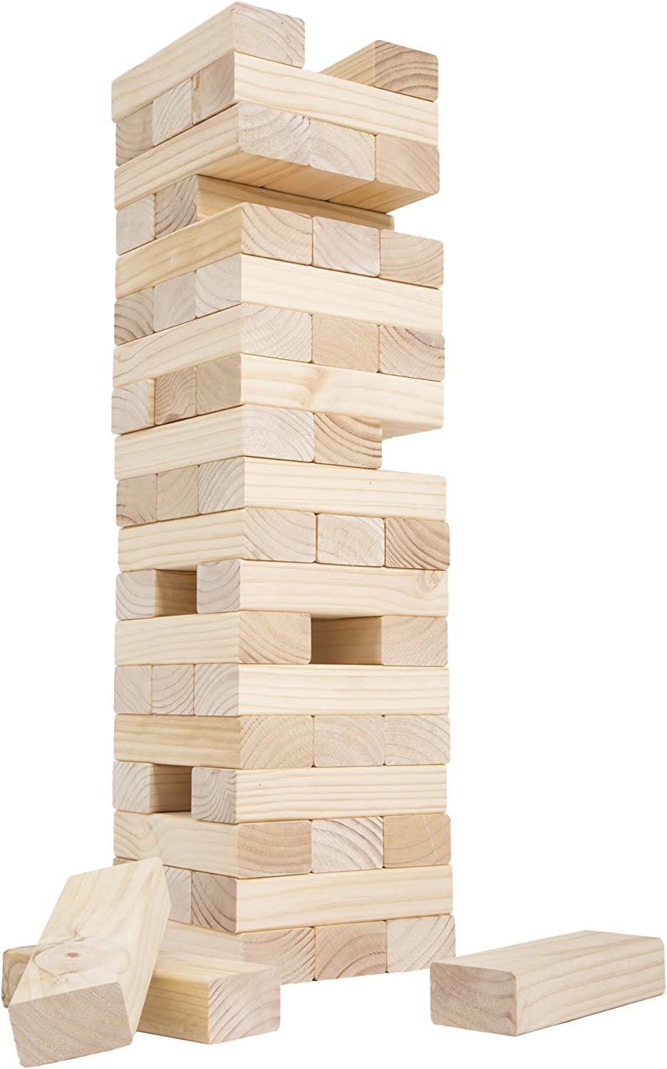 Classic Giant Wooden Blocks Tower Yard Game Stacking store OFFicial site G Outdoors