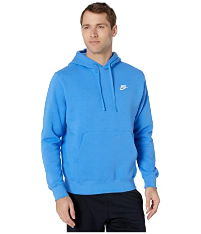 Nike NSW Club Hoodie Pullover (Pacific Blue/Pacific Blue/White) Men