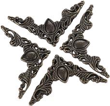 4 stuks Metalen Haakse Beugel Beugel Antiek Brons Sieraden Doos Boek Hoek Beugel Antieke Frame Accessoires Notebook Menu's