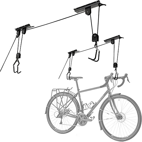 discount Cartman Garage online Utility Ceiling-Mounted Bike Lift, outlet online sale Mountain Bicycle Hoist, Pack of 2 online sale